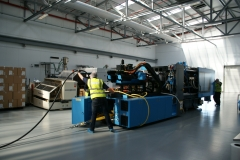 Machine Installation (Engel)- Moving into location